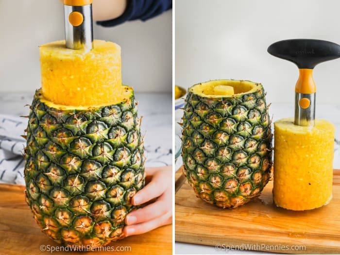 using a pineapple corer
