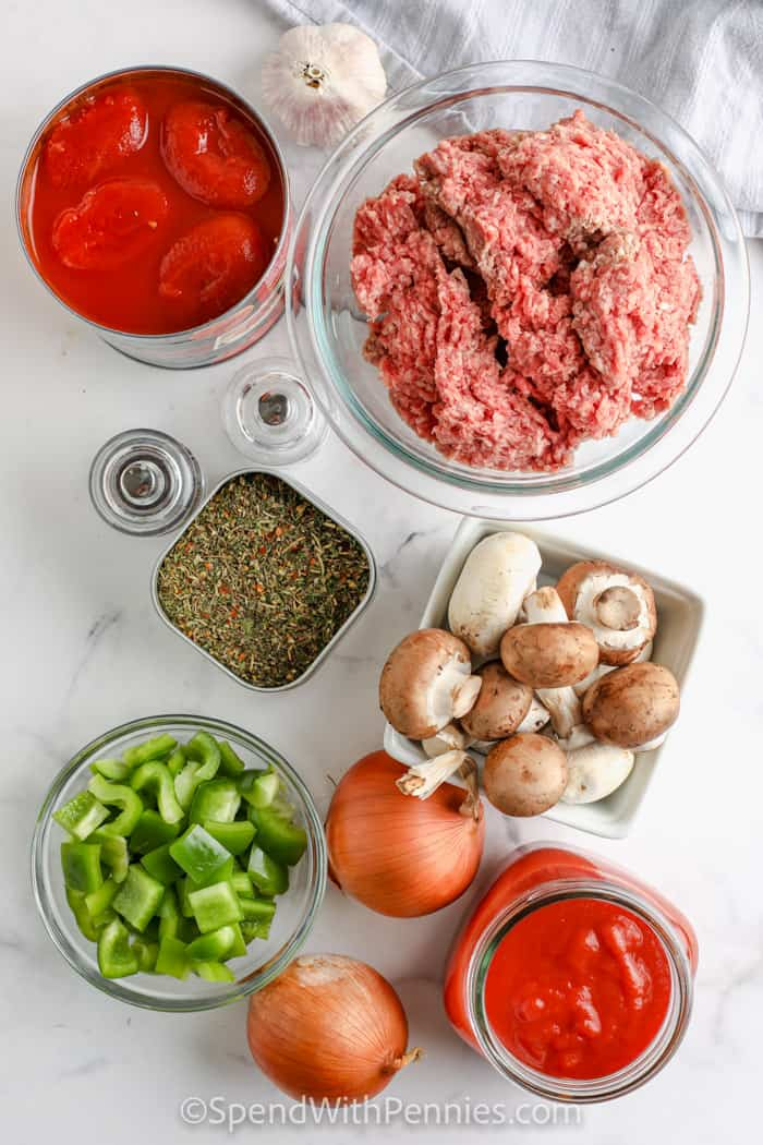 ingredients to make Instant Pot Pasta Sauce