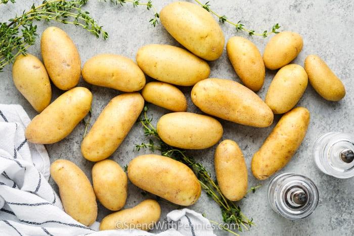 ingredients to make Roasted Fingerling Potatoes