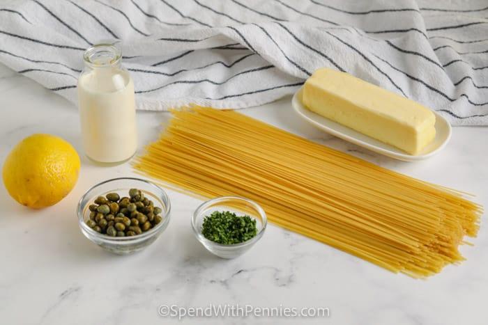ingredients to make 20 Minute Lemon Pasta