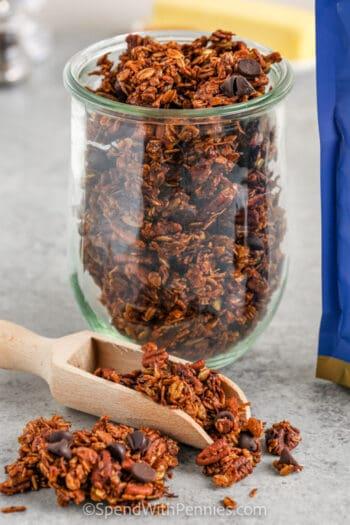 jar of Chocolate Granola
