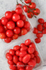 Cherry Tomatoes and Grape Tomatoes in plastic containers