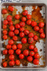Roasted Cherry Tomatoes on a pan