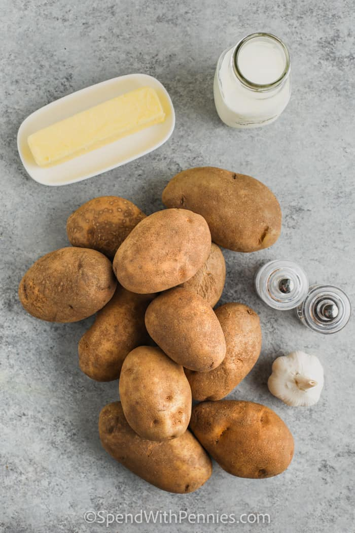 ingredients to make The Best Mashed Potatoes
